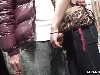 Voyeur catches a oral in a sex shop...