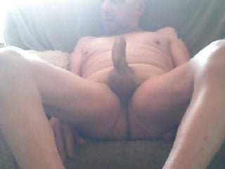 Solo Naked Cam session and Cock Show Clip