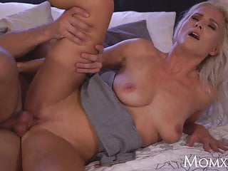 MOM Amazing all natural big tits MILF rides a big rock hard