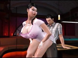 Transexual strip club animation...