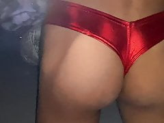 Big Ass new Leather Bikini +CUMSHOT