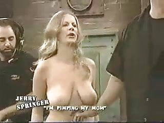 Topless women fighting on jerry springer show...