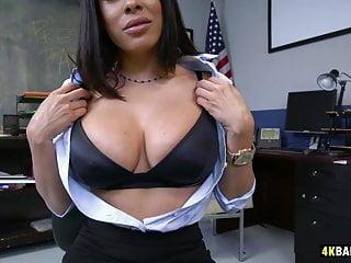 Stunning MILF Luna Star gets the job pulling her tits