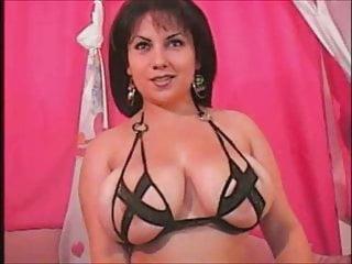 brunette with interesting bra on camporno videos