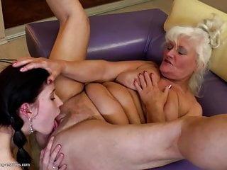 Grannies fuck young lesbian girls...