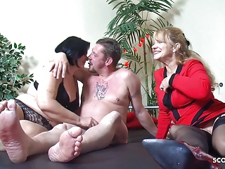 old german couple at first threesome with big tits maturePorn Videos