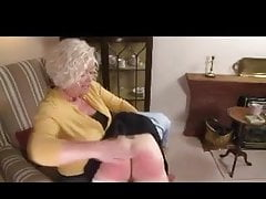 domme granny spanks girl over her kneePorn Videos