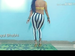 The Adult Video Experience Presents Payal Bhabhi Hot Indian Dancing In Stripe Leggings