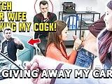 HUNT4K. Sexy lady fucks stranger because her boy wants
