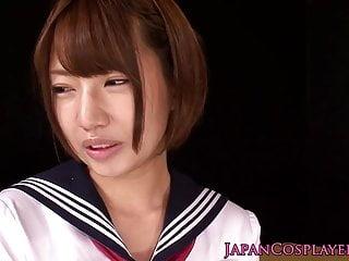 Cosplay saki miyanaga goes lesbian with hisa takei...