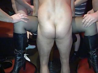 Playful slutwife gangbanged by 20+ guys regularly