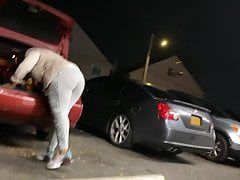 parking lot pimping  quick catch. round booty Porn Videos