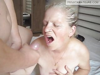 Nelli Blowjob and Facial Granny