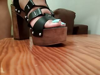 New wooden shoes long toenails...
