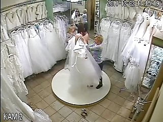 spy camera in the salon of wedding dresses 1 (sorry no sound