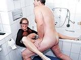 REIFE SWINGER - Busty German blonde fucked hard in the bath