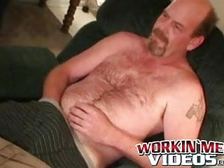 Man tugs cock before anal play and cumshot...
