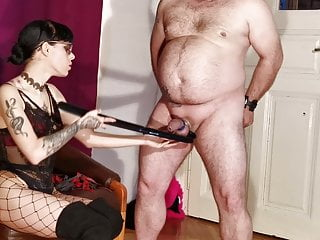 Cock slapping & spanking for my fat slave pt1