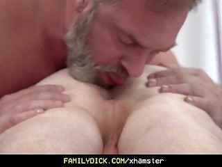 Athletic stepson cums in his stepdad...