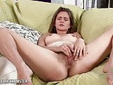 Kitten Coyote gets oiled up before masturbating her bush