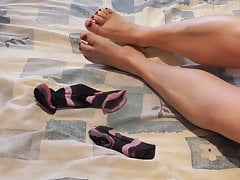 My wife gropes me with her feet
