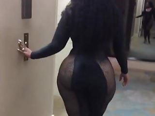 Ebony ass swaying...