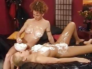 Lesbian messy play - Dina Jessica