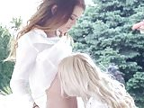 Misha Cross and Lola Taylor in Windy day lesbian scene by