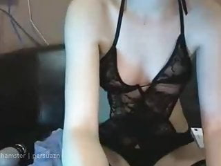 Sexy in black lingerie nice pussy and ass...