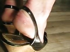 Cum On Mature Sole In Slingback Shoes