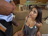 Ebony teen Nicole Bexley takes black cock