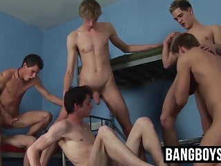 Young are involved into intense raw banging session...
