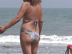 HAIRY MOM, WIFE ON THE BEACH (PART 2), EXHIBITIONIST, FUCKING