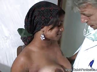 Dutch Desi old mom Smashes White Guy In The Netherlands
