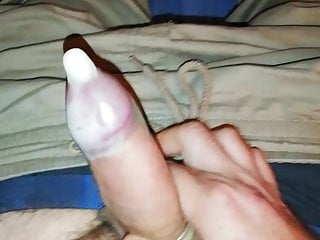Jacking off in a condom (4th and final load of the day)