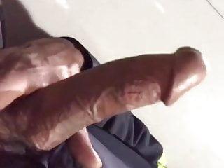 MAN WORK CUMS BIG DICK HORNY AND AT