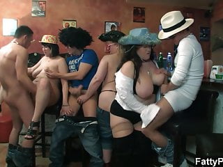 Hot plump group orgy...