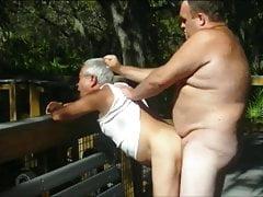 outdoors scenes where grandpa sucks & gets fucked by chubbyfree full porn