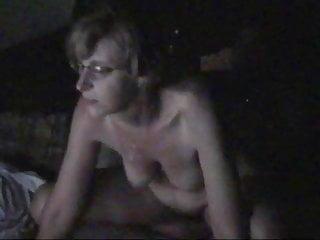 Amateur floppy  mature tit riding