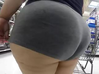 Big Fat Ass White Girl in Booty Shorts