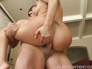 Hot brunette gets her asshole pierced and gets jizzed on