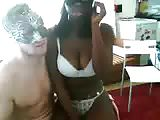 interracial busty couple