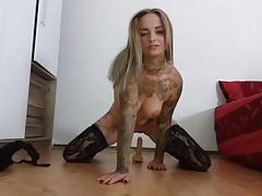 PAIN! GIANT DILDO DESTROYS MILF PUSSY HUGE TITS FUCK COCK