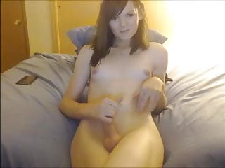gurl with sweet lil cock on cam