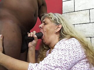 ugly 72 year old mom has rough BBC fuck