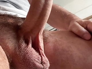 cock jerking Big daddy (no cum) hairy