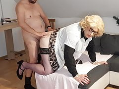 Cleaning Whore Ilona finally gets the holes stuffed again