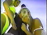 Silvie Saint sucking big black dick in treesome