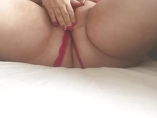 Chubby playing with pussy