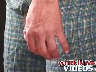 Hairiest mature stud cums hard after solo masturbation